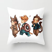 onward Throw Pillows featuring onward to adventure! by noCek