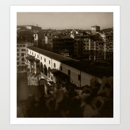 Ponte Vecchio, Monochrome, 2000 Art Print