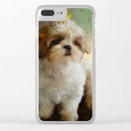 Bella Portrait - Shih Tzu Clear iPhone Case