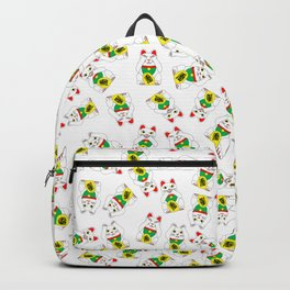 Three Wise Lucky Cats Backpack
