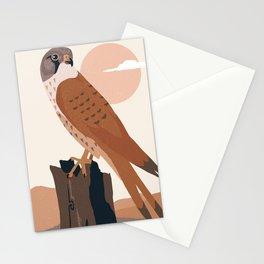 Kestrel bird of prey soft tones nature landscape  Stationery Cards