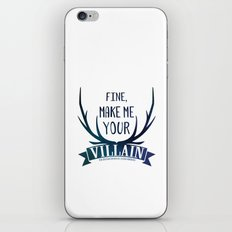 Fine, Make Me Your Villain - Grisha Trilogy book quote design - In White iPhone & iPod Skin