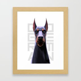 DOBERMAN Framed Art Print