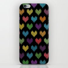 Colorful Knitted Hearts iPhone & iPod Skin