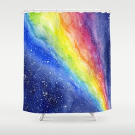 A Rainbow in Space Shower Curtain