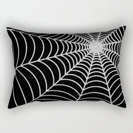 Spiderweb | Silver Glitter Rectangular Pillow