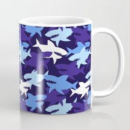 Blue Sharks Camouflage Pattern Coffee Mug