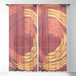 Potter's Wheel Sheer Curtain