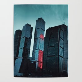 Downtown / Moscow Poster