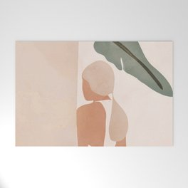 Abstract Woman in a Dress Welcome Mat