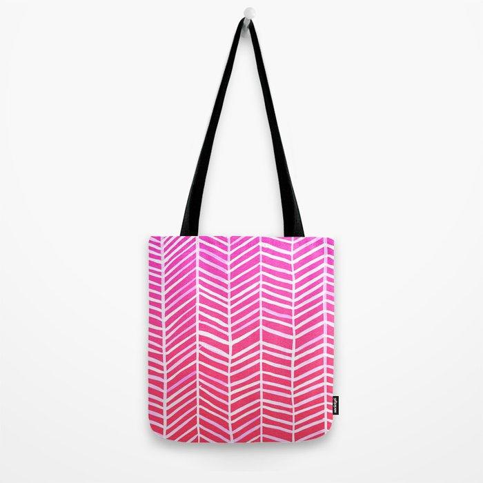 Herringbone – Pink Ombré Tote Bag