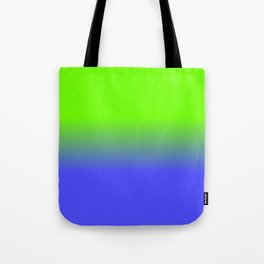 Neon Blue and Neon Green Ombré  Shade Color Fade Tote Bag