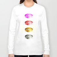 lips Long Sleeve T-shirts featuring Lips by Mr and Mrs Quirynen