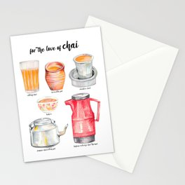 for the love of chai Stationery Cards