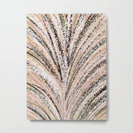 Rose Gold and Glitter Brushstroke Bursts Metal Print