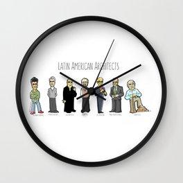 Latin American architects Wall Clock
