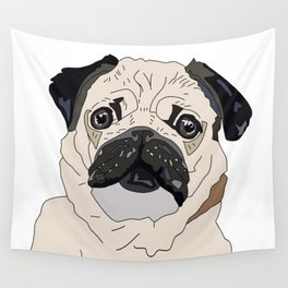 Pug Puppy Wall Tapestry