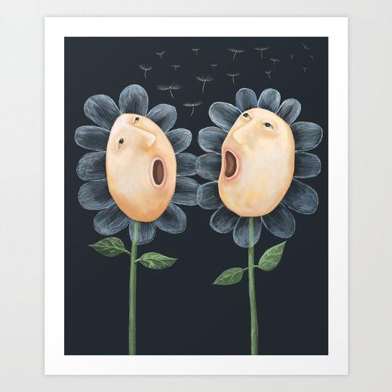 Flower Duet Art Print