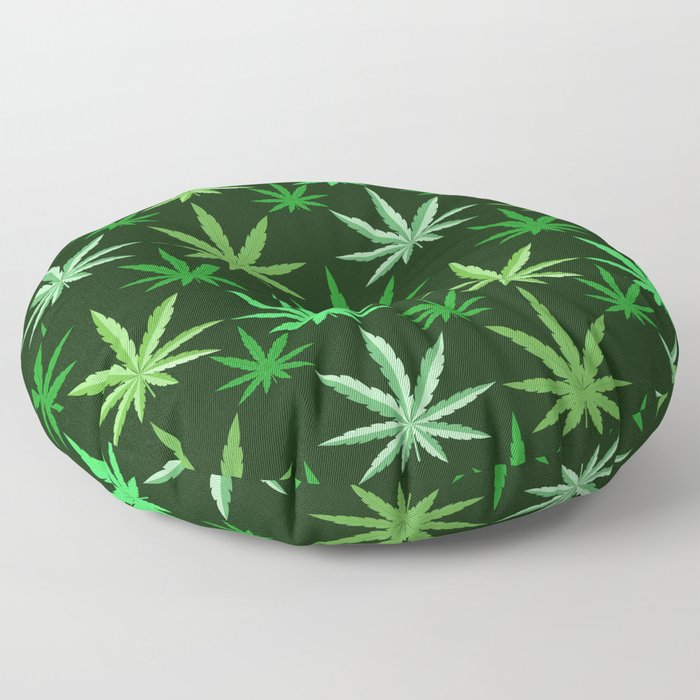 Marijuana Green Leaves Weed Floor Pillow