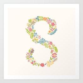 Alphabet S Art Print