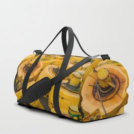 Yellow gathering Duffle Bag