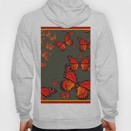 Orange is the  Color Of Monarch Butterflies Hoody