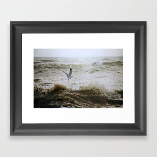 Of wind and waves and flight... Framed Art Print