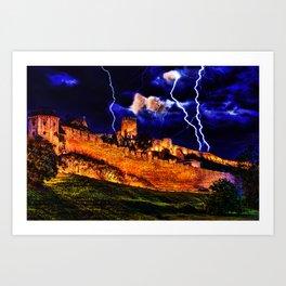 Mystical Fortress Kalemegdan Belgrade Art Print