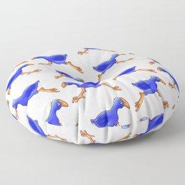 Running Pukeko - Swamp hen Floor Pillow
