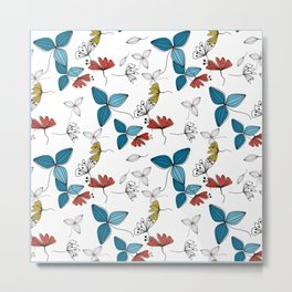 The floral pattern . Metal Print