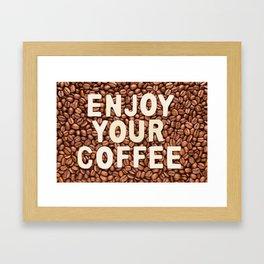 Coffee beans Framed Art Print
