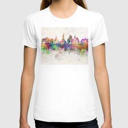 Zakopane skyline in watercolor background T-shirt