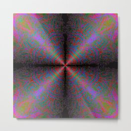 Metal Maze Mandala Metal Print
