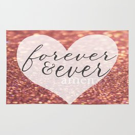 Forever And Ever Amen. Rug