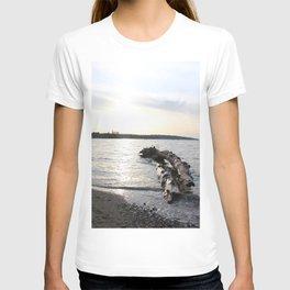Logs Kits Beach Sunset T-shirt