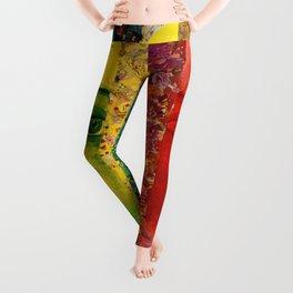 Conundrum I - Abstract Rainbow Goddess Leggings