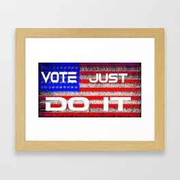 Vote Just Do It Framed Art Print