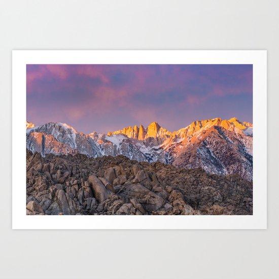 First Light on Mount Whitney by brianklonoski