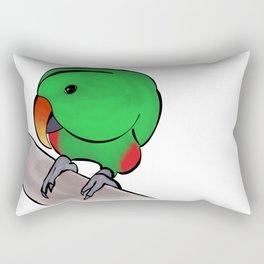 Curious Eclectus Parrot Rectangular Pillow