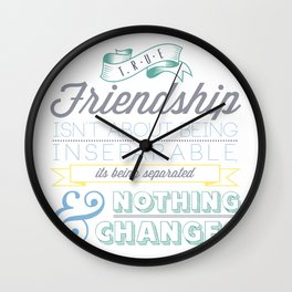 True Friendship Wall Clock