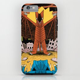 Kaiju Battle! iPhone Case