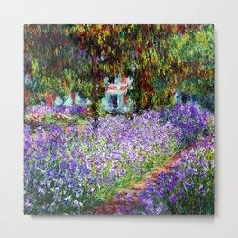 """Claude Monet """"Irises in Monet's Garden at Giverny"""", 1900 Metal Print"""