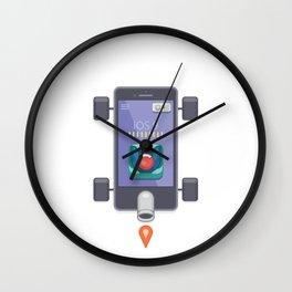 "Creative Drive - ""UI Designer Car"" Wall Clock"