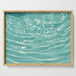 Turquoise Ocean Dream #1 #water #decor #art #society6 Serving Tray