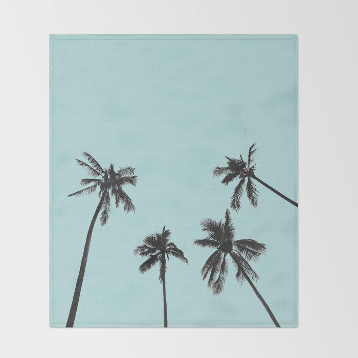 Palm trees 5 Throw Blanket