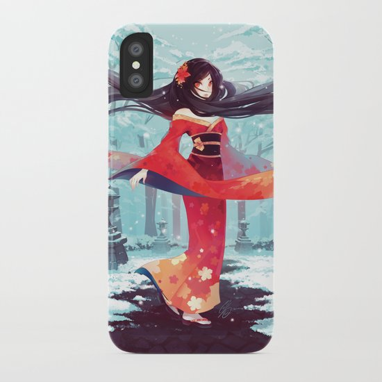 A walk in the asian winter iPhone Case