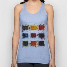 Watercolor palette Unisex Tank Top