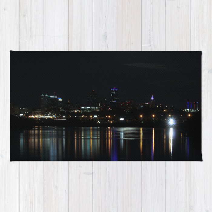 Kansas City at Night Rug