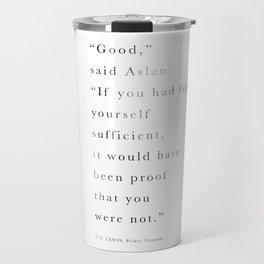 """""""Good"""" said Aslan Travel Mug"""