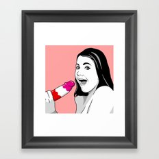 Ice Pops Ahoy Framed Art Print